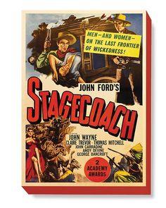 MOV 028 Movie Poster Art - Stagecoach