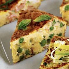 Pancetta & Peas Frittata