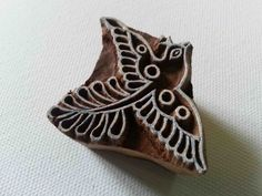 Bird Indian Wood Stamp - Wood Block Printing - Hand Carved - India - Small - Little Birdie - #3