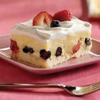 Low fat berry squares. Easy spring dessert.