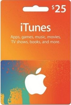 Giveaway Time! Win a $25 iTunes Card from iTunesCard.com! 4 people will win!