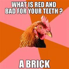 Oh anti-joke chicken...