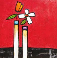 Couple adore by Mélan (Mélanie Simard) presented by Woodlands Gallery Abstract Flower Art, Glass Painting Designs, Folk Art Flowers, Art Drawings For Kids, Artwork Display, Diy Canvas Art, Mosaic Art, Pop Art, Mixed Media