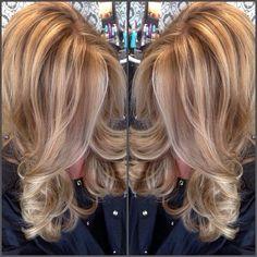 Golden blonde with lowlights