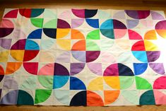 quilt colors (drunkard's path - with solids) would be great withrounded corners too