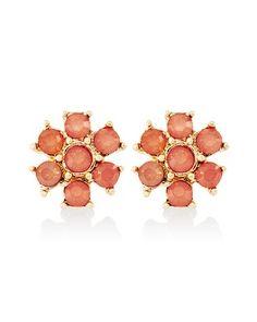 White House | Black Market Coral Flower Stud Earring Flower Stud, Stud Earring, Jewelery, Eyeshadow, Coral, Stone, Earrings, Flowers, Stuff To Buy
