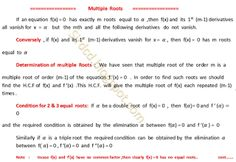 Applied Mathematics: Multiple  Roots   1
