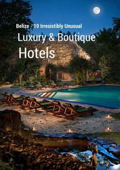 Belize has both jungle and beach, luxury and abound in both. Check out captivating luxury and boutique hotels throughout Belize. Belize Hotels, Belize Vacations, Belize Travel, Belize City, Mexico Travel, Romantic Vacations, Dream Vacations, Vacation Trips, Romantic Travel