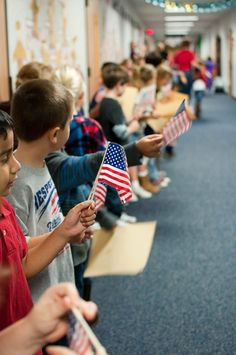 Veteran's Day parade at school idea!