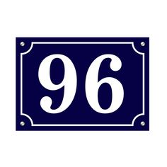 French Style House Number Plaque House Number Plaque, House Numbers, French Style Homes, Office Signs, Aluminum Signs, Home Signs, Unique Colors, Vintage Signs