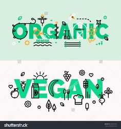 For groceries, organic, vegan shops. Healthy lifestyle. Thin line flat design banners for desktop and mobile websites. Gardening and farming.
