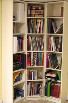 Individual Ikea Billy Bookcases Turned Into Corner Unit
