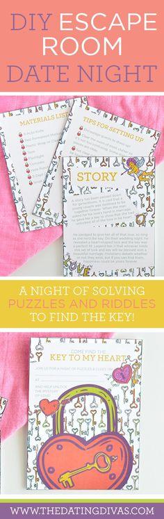 DIY Escape Room date night idea - it's a fun, inexpensive alternative!