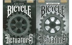 Bicycle Black & White Actuators Playing Cards 2 Deck Set price and features