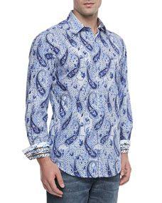 Belmre Paisley-Print Sport Shirt, Multi