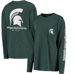 Women's Green Michigan State Spartans Cynthia Long Sleeve Pocket T-Shirt