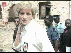 Princess Diana working with the red cross - YouTube