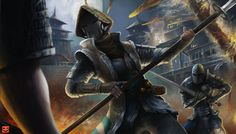 Nobushi - For Honor fan-art by on DeviantArt Video Game Characters, Dnd Characters, For Honor Samurai, Rogue Character, L5r, Faith In Humanity Restored, Cool Gear, Fantasy Inspiration, Medieval Fantasy