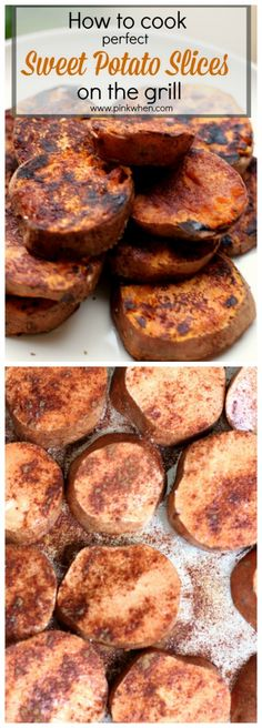How to cook perfect sweet potato slices on the grill    www.pinkwhen.com
