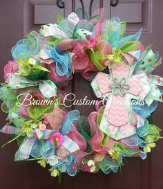 Check out this item in my Etsy shop https://www.etsy.com/listing/223918385/springtime-cross-wreath-easter-wreath