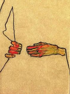 "aneleh: "" Egon Schiele, Hands One thing we share, is worshipping the image of a person, we never knew. — Adam Fitzgerald """