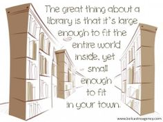 The great thing about a library