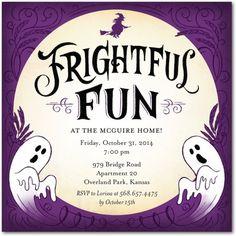 Moonlight Mash - Halloween Party Invitations in Amethyst | Petite Alma