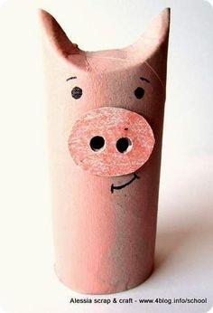 Manualidad infantil cerdo. Actividad infantil sobre el cerdito