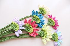 Flower bookmark Handmade crochet bookmark Book by PetyaTwinkles