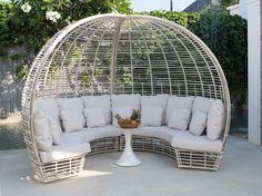 Upholstered igloo garden sofa SUNDAY - SKYLINE design