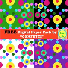 *** FREE *** CONFETTI Digital Paper Pack