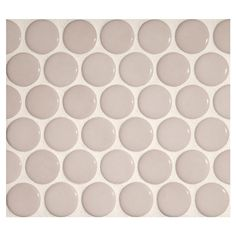 "Complete Tile Collection Penny Round Mosaic - Light Iveny - Gloss, 1"" Round Glazed Porcelain Penny Mosaic Tile, Anti-Microbial, Anti-Odor, Anti-Staining Technology, MI#: 063-Z1-250-043, Color: Light Iveny"