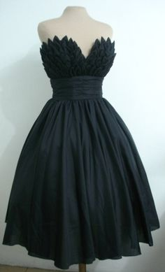 Black wedding dress. For your Swan Lake-themed gothic wedding. Guaranteed to get you featured on OffBeat Bride ;)