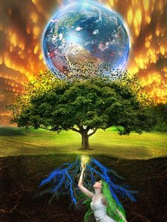 The tree of life is a common motif in various world theologies, mythologies, and philosophies. It alludes to the interconnection of all life and creatio. Gaia Tree of Life Gaia, Mother Earth, Mother Nature, Live Earth, Mother Photos, Tree Of Life Art, Nova Era, Secrets Of The Universe, Divine Mother