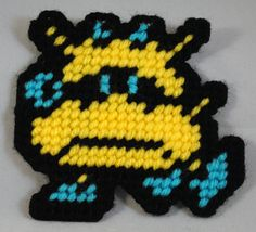 The Yellow Virus from Doctor Mario on the NES. Check out other things I've made on my website: http://www.crafts.geek-craft.com