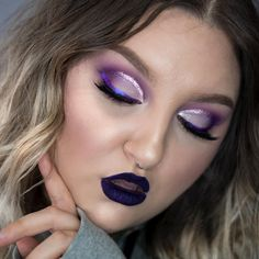 rawbeautykristi Full video is LIVE on my YouTube channel now! It's a 25-minute long Chit Chat GRWM style life update. (LINK IN BIO) while I do this purple glitter crease