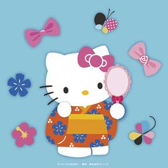 yukata robe for the summer festival Sanrio Characters, Fictional Characters, Hello Kitty Pictures, Hello Kitty Wallpaper, Cute Backgrounds, Little Twin Stars, My Melody, Bunny, Clip Art