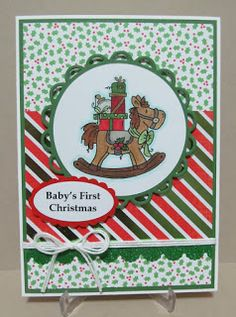 Savvy Handmade Cards: Baby's First Christmas Card