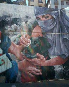 En las mejores manos Punk, Instagram, Social, Painting, Animals, House, Murals, Paintings, Protest Art