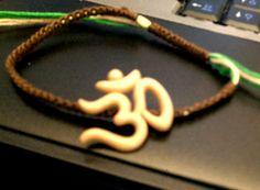 A little blurry, but my favorite bracelet so far.  Om Earth- Handmade Macrame Bracelet/Anklet #Etsy #Jewelry