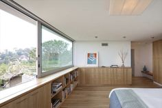 Clean Bright Space with Wooden accents
