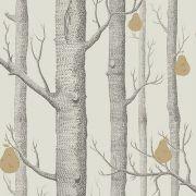 Papier Peint Woods Pears Arbres Gris Et Poires Dorees En 2020 Papier Peint Fond D Ecran Noir Et Blanc Papier Peint Blanc