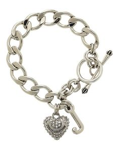 Juicy Couture Pave Silver Starter Bracelet  $58.00  STYLE NUMBER: YJRU3556