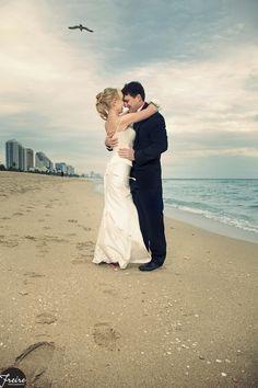 a wedding on the beach...