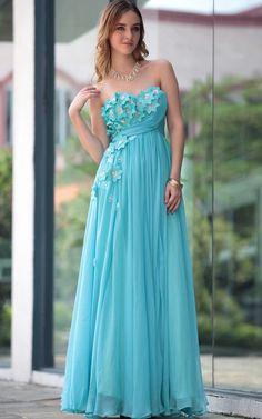 Blue Sexy Off Shoulder Floor Length Gowns Evening Dress