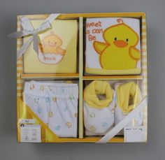 BQT - 4pc Baby Gift Box (Yellow) #babygiftpacks