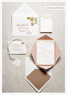 Selected Favorite Wedding Invitations of 2012 by 100 Layer Cake! Ladyfingers Letterpress.  Hip hip hooray!