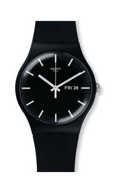 Swiss made, the Swatch watch MONO BLACK features a quartz movement, a silicone strap and a plastic watch head. Discover more Originals New Gent on the Swatch Ireland website. Gents Watches, Stylish Watches, Casual Watches, Luxury Watches For Men, Amazing Watches, Cool Watches, Wrist Watches, Watches Photography, Black Quartz