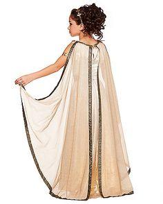 Greek Godess Costume, Egyptian Goddess Costume, Greek Goddess Dress, Greek Dress, Costume Meduse, Little Girl Dresses, Girls Dresses, Praise Dance Wear, Roman Dress