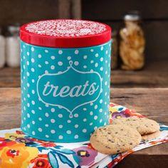 The Pioneer Woman Flea Market Dots Treat Jar - Walmart.com